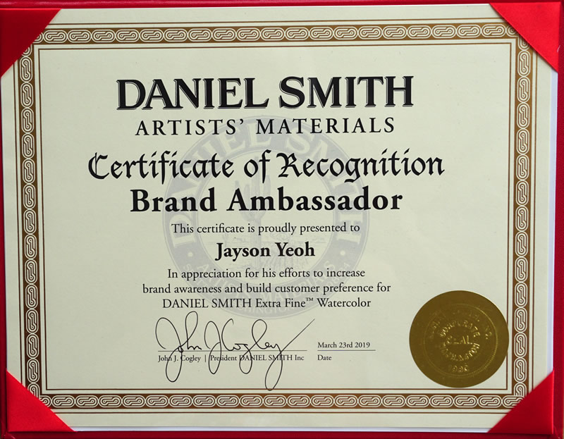 "Certificate of ""Brand Ambassador"""